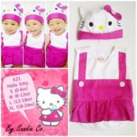 jumper bayi dress hello kitty dres baju pink anak 1 2 tahun gaun pesta
