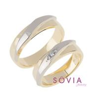 cincin pasangan untuk pernikahan lamaran tunangan bahan emas palladium