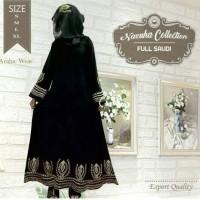 Na 460 | Baju gamis pesta-toko baju muslim-big size-jumbo-gamis hitam