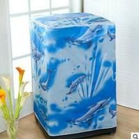 Jual cover/sarung mesin cuci 1 tabung bukaan atas (bahan satin tebal) Murah