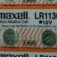 Jual Batrai/baterai/Bateray/Batre jam tangan merek Maxell LR 1130/AG10 15V Murah