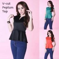Jual VCUT PEPLUM TOP atasan baju pakaian blouse wanita murah Murah