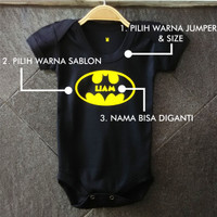 Jual Custom Jumper Bayi Batman With Name Murah