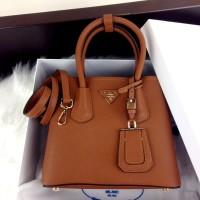 PRADA Saffiano Double BB Bag 8888 + BOX