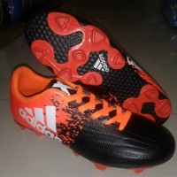 sepatu bola adidas x hitam orange