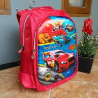 Tas Anak FORTUNE DISNEY SERIES RACING CAR GAMBAR TIMBUL 5D