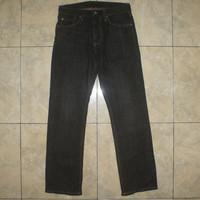 UNIQLO UJ Black Raw Reguler Fit Straight Jeans