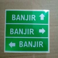 Stiker/sticker/gambar tempel banyolan BANJIR