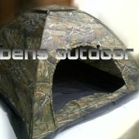 Jual tenda hyu single layer (loreng) kapasitas 4 orang Murah