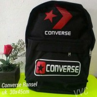 Tas Ransel Converse hitam / tas sekolah / tas anak