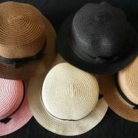Classic Boater Hat - Topi pantai anyam import Thailand