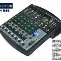 Soundcraft efx8-4 efx8/4 efx8 efx 8 usb mixer audio