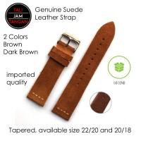 Jual 20mm, 22mm Rolex Suede Leather Strap Tali Jam Tangan Kulit Asli Murah