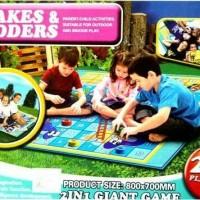 Unik+Keren         Mainan anak keluarga Karpet Ular Tangga Snakes and