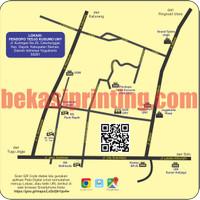 Design Peta / Denah Undangan + QR Code Digital Waze / Google Maps
