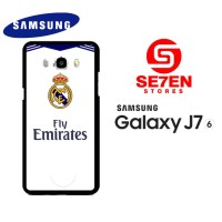 Casing HP Samsung J7 2016 real madrid white Custom Hardcase