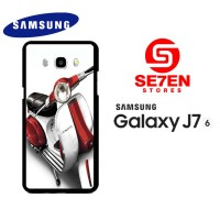 Casing HP Samsung J7 2016 red and white vespa original Custom Hardcase