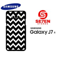 Casing HP Samsung J7 2016 pattern white and black Custom Hardcase
