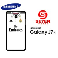 Casing HP Samsung J7 2016 real madrid white 2 Custom Hardcase