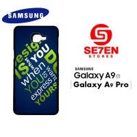 Casing HP Samsung A9 2016 A9 Pro Simple Custom Hardcase