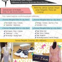 Voucher KURSUS MENJAHIT --- Adibusana, Cosplay dan Garment