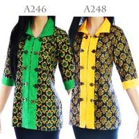 Jual Atasan Batik Tunik Blus Batik Blouse Motif Songket A246A248 Murah