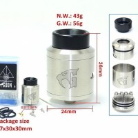 Jual Goon 1.5 RDA 24mm Silver Clone by SXK Murah