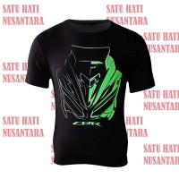 Honda ORI CBR Headlight T-Shirt / Kaos Keren Sport Stylish - BLACK