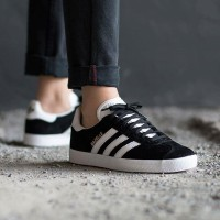 "ADIDAS GAZELLE II ""CORE BLACK/FTWR WHITE/GOLD METALLIC"""
