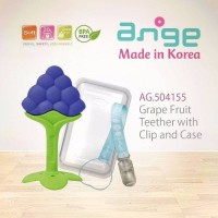 Jual ange fruit teether with clip & case : grape strawberry banana Murah
