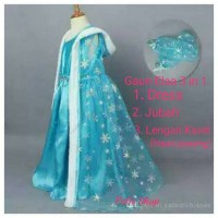 Jual Gaun Elsa Frozen 3 in 1/ dress baju pesta impor Murah