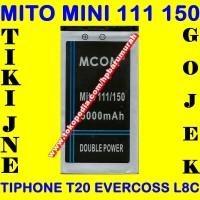 Jual Baterai HP Mini Kuningan Tengah Tiphone T20 Mito 111 Batrai Batre Murah