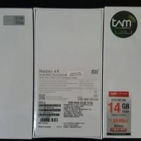 HP XIAO MI REDMI 4X RAM 3GB INTER 32GB GARANSI RESMI TAM
