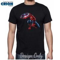 Jual Kaos Spiderman - Spiderman Captain America Civil War - By Crion Murah