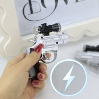 Mainan Pistol Kejut Setrum Stun Gun Proyeksi Laser Pointer+Gambar LED