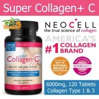 Neocell, Super Collagen+C, Type 1 & 3, 120 Tablet/ Suplemen Kecantikan
