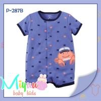 Jual Baju Bayi Lucu ~ Romper Bayi ~ Carter's Blue Crab Buttoned (P287B) Murah