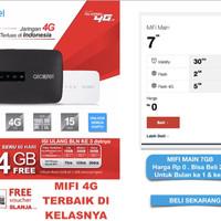 Alcatel Mw40 Modem Tsel 4G 14GB Selama 60 Hari Bypass - Hitam