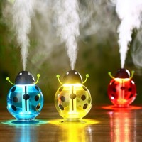 Jual Mini USB LED Beetles Ultrasonic Humidifier Aromaterapi Pelembab Udara Murah