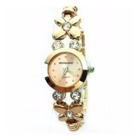 Jam Tangan Fashion Wanita Sanwood Rhinestone Gold - 633215