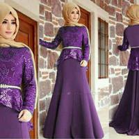 Jual BARU - ZS2 Hijab Peplum Gliter Mirah Murah