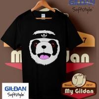 Kaos Original Gildan - T Shirt - Kaos Gildan Adidas Funny Panda