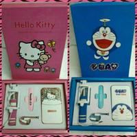 Jual Power Bank Hello Kitty & Doraemon 8800 mAh + Tongsis Murah
