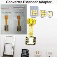 Hybrid Dual Sim Card Micro SD Converter Extender Adapter