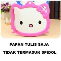 Papan Tulis White Board + Spidol Penghapus Marker Eraser Karakter Lucu Unyu Kepala Hello Kitty Hellokitty Kity HK