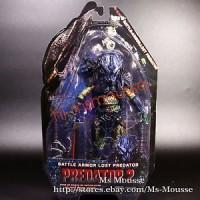 "NECA Battle Armor Lost Predator 2 Borg Green 7"" Action Figure Series 1"
