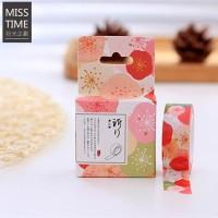 harga Flower Pattern Miss Time Washi Masking Tape - Selotip Kertas Lucu Unik Tokopedia.com