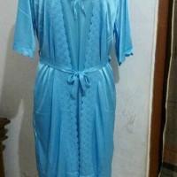 Jual lingerie satin/ baju tidur kimono satin dengan tali dipinggang Murah