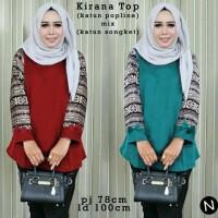 57242 Kirana Top/baju Tunik Murah/atasan Muslim Wanita Murah/blouse