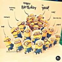 Jual Kartu Ucapan Ulang Tahun Pop Up Card Birthday Minion Murah